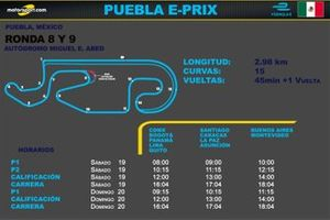 Horarios para el e-Prix de Puebla de Formula E