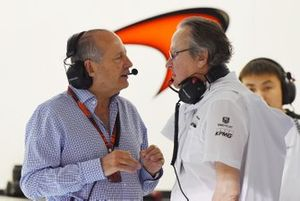 Mansour Ojjeh, TAG et Ron Dennis, directeur exécutif de McLaren