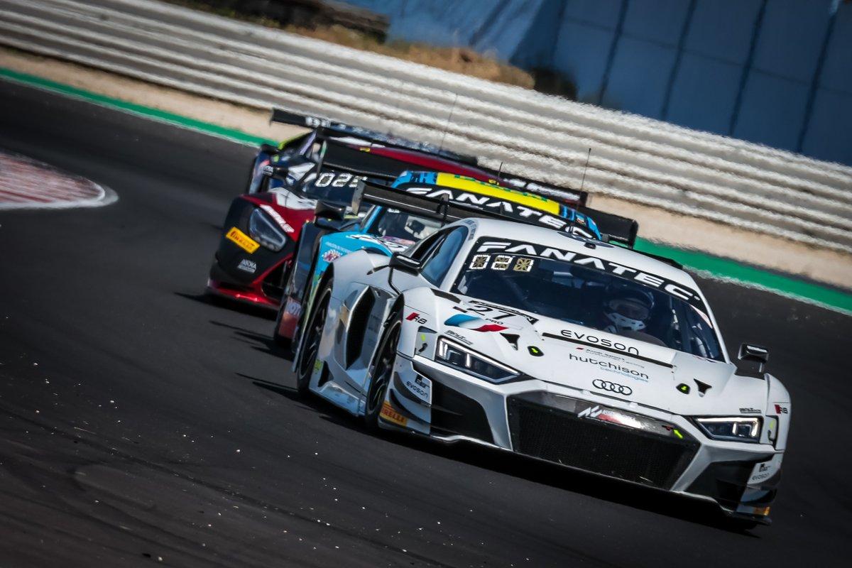 #27 Sainteloc Racing Audi R8 LMS GT3: Finlay Hutchison, Markus Winkelhock