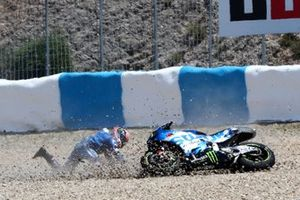 Alex Rins, Team Suzuki MotoGP crash