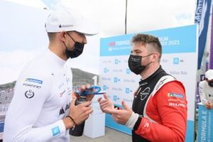 Jake Dennis, BMW I Andretti Motorsport, Oliver Rowland, Nissan e.Dams