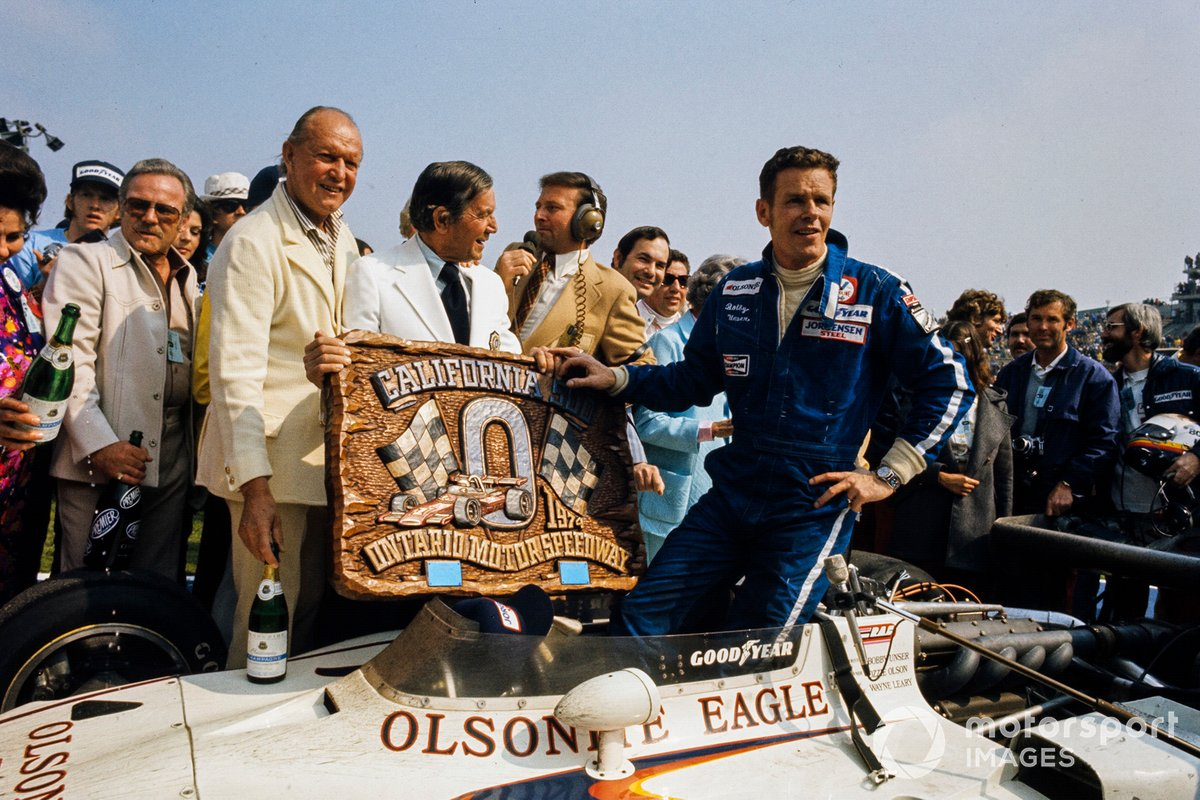 Race winner Unser, All American Racers-entered Eagle 74 Offenhauser