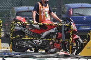 La machine accidentée de Francesco Bagnaia, Ducati Team