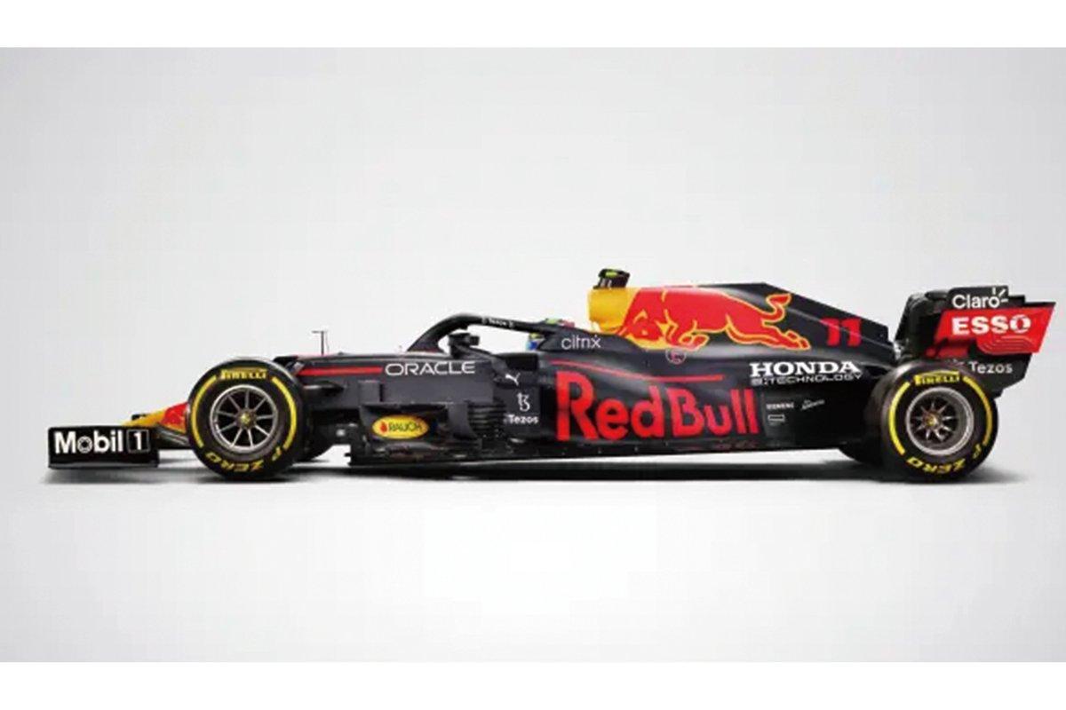 『Honda e:TECHNOLOGY』のロゴマークをまとうRed Bull Racing RB16B