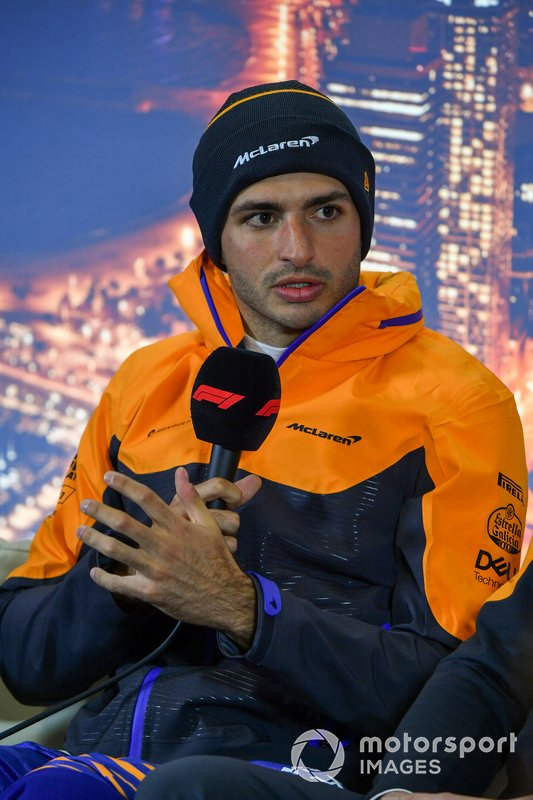 Carlos Sainz Jr., McLaren, in the press conference
