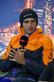 Carlos Sainz Jr., McLaren, in conferenza stampa