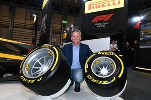Mario Isola, Racing Manager, Pirelli Motorsport with the new 18-inch Pirelli tyres