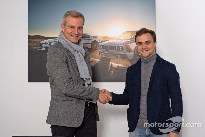 Lucas Auer con Jens Marquardt, direttore BMW Motorsport