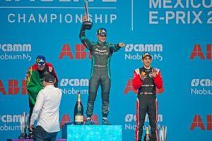 Podium: 1. Mitch Evans, 2. Antonio Felix da Costa, 3. Sébastien Buemi