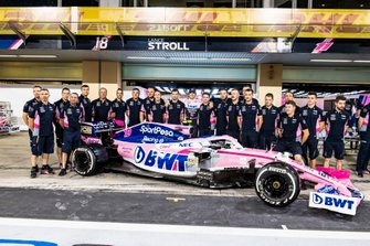 Lance Stroll, Racing Point poses for a group photo with the 2019 team