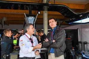 Alejandro Agag, Chairman of Formula E, Toto Wolff, Team Principal of Mercedes AMG F1 Team