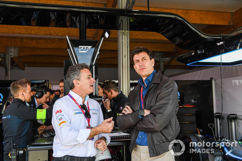 Alejandro Agag, Chairman of Formula E, Toto Wolff, Team Principal of Mercedes AMG F1 Team