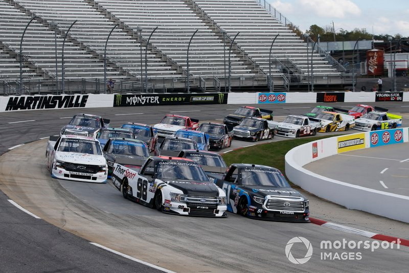 Grant Enfinger, ThorSport Racing, Ford F-150 Curb Records Christian Eckes, Kyle Busch Motorsports, Toyota Tundra SiriusXM