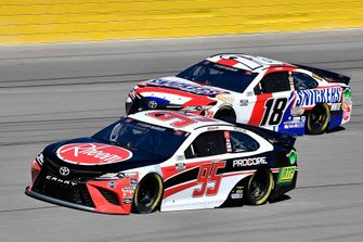 Christopher Bell, Leavine Family Racing, Toyota Camry Rheem-RTP and Kyle Busch, Joe Gibbs Racing, Toyota Camry Snickers White