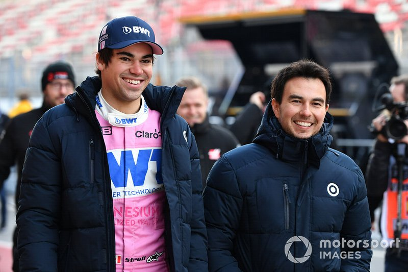 Lance Stroll, Racing Point y Sergio Perez, Racing Point