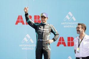 Mitch Evans, Jaguar Racing, celebrates on the podium