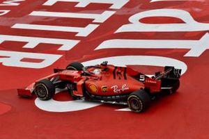 Sebastian Vettel, Ferrari SF90, leaves the track