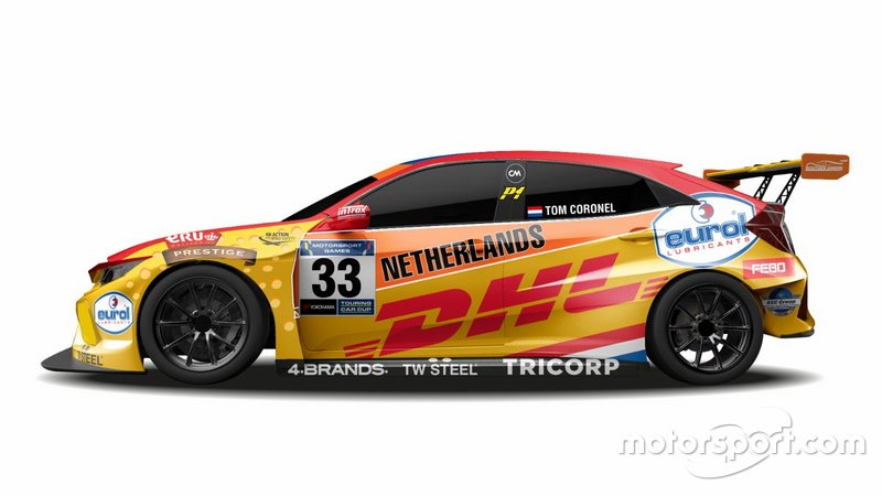 Livery Tom Coronel FIA Motorsport Games