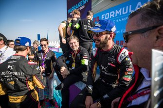 Jean-Eric Vergne, DS Techeetah, 3rd position with team members