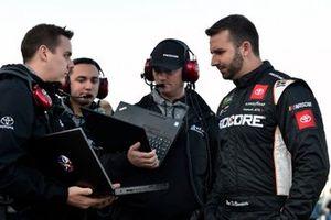 Matt DiBenedetto, Leavine Family Racing, Toyota Camry Procore and Michael Wheeler