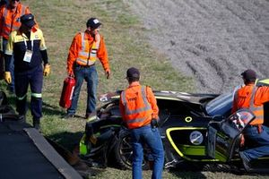 #44 Mercedes-AMG Team Strakka Racing Mercedes-AMG GT3: Gary Paffett, Tristan Vautier, Lewis Williamson in the gravel