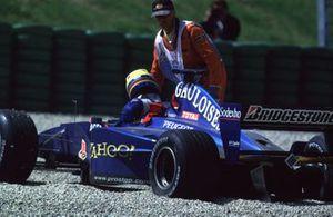 Nick Heidfeld, Prost AP03 Peugeot valt uit