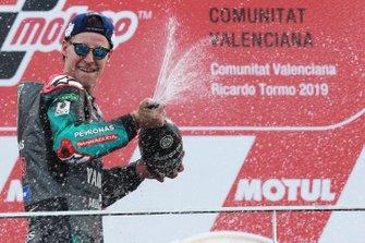 Podio: il secondo classificato Fabio Quartararo, Petronas Yamaha SRT