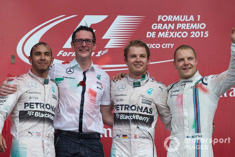 Podyum: Yarış galibi Nico Rosberg, Mercedes AMG F1, 2. Lewis Hamilton Mercedes AMG F1, Andrew Shovlin, Mercedes AMG F1, 3. Valtteri Bottas, Williams