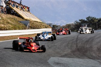 Gunnar Nilsson, Lotus 78 Ford leads Jacques Laffite, Ligier JS7 Matra and Hans-Joachim Stuck, Brabham BT45B Alfa Romeo