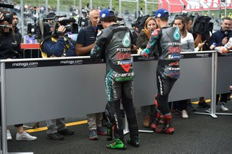 Second place Franco Morbidelli, Petronas Yamaha SRT, third place Fabio Quartararo, Petronas Yamaha SRT