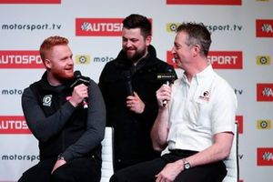 BTCC drivers Josh Cook, Daniel Rowbottom and Matt Neal are interviewed on stage