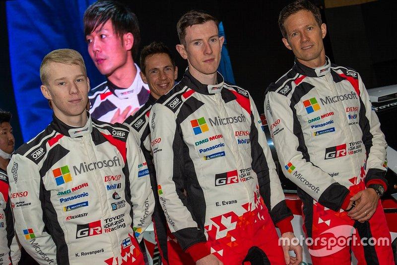 Kalle Rovanperä, Toyota Racing, Elfyn Evans, Toyota Racing, Sébastien Ogier, Toyota Racing