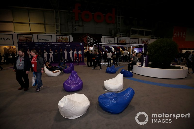 A general view of the Formula E stand