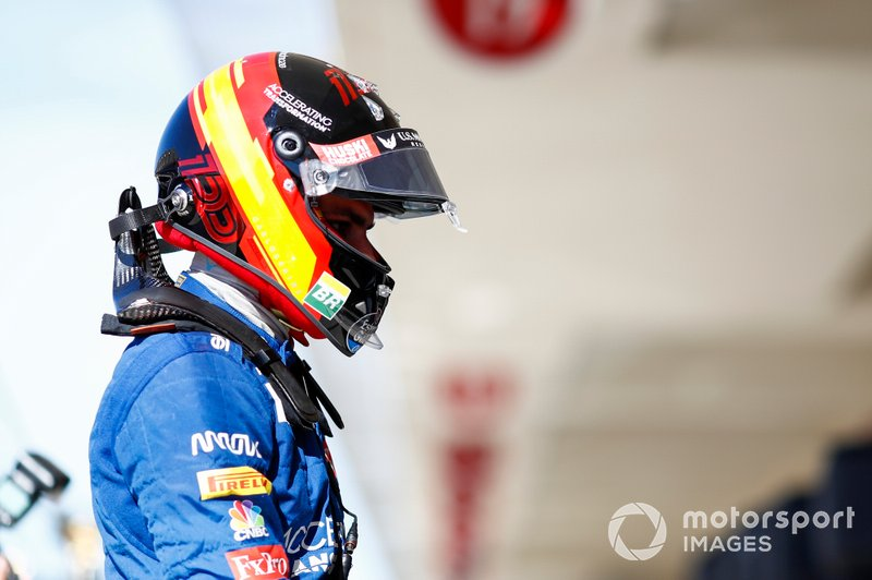El casco de Carlos Sainz, McLaren, para el GP de Estados Unidos