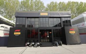 Pirelli motorhome in the paddock