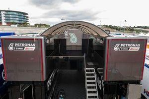Paddock, trucks, Petronas Yamaha