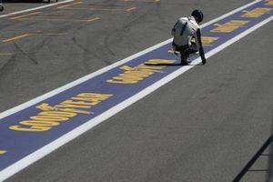 Goodyear member take the track temperature