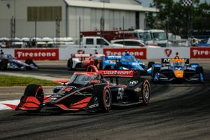 Will Power, Team Penske Chevrolet, Felix Rosenqvist, Arrow McLaren SP Chevrolet, Alex Palou, Chip Ganassi Racing Honda