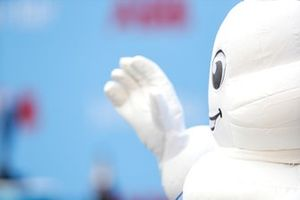 Bibendum, The Michelin Man, at the podium ceremony