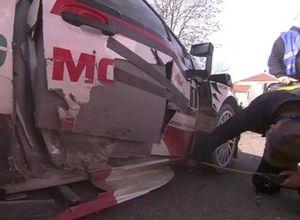 Auto danneggiata di Ogier