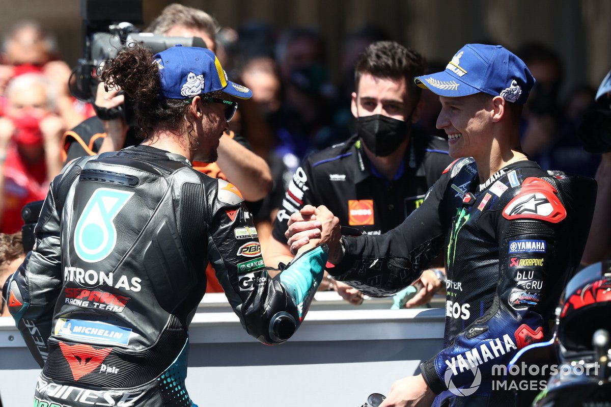 Franco Morbidelli, Petronas Yamaha SRT, Fabio Quartararo, Yamaha Factory Racing
