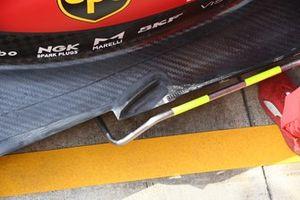 Dettaglio del fondo della Ferrari SF21