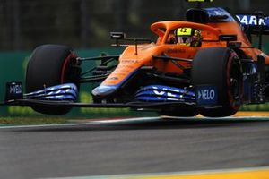 Lando Norris, McLaren MCL35M, in the air