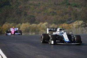 Nicholas Latifi, Williams FW43, Lance Stroll, Racing Point RP20