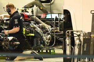 Mercedes W12 without bodywork
