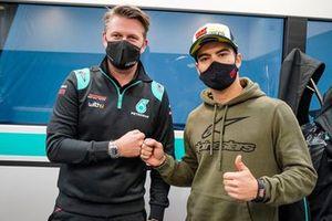 Matteo Ballarin, capo squadra del team WithU Motorsport, con Eric Granado