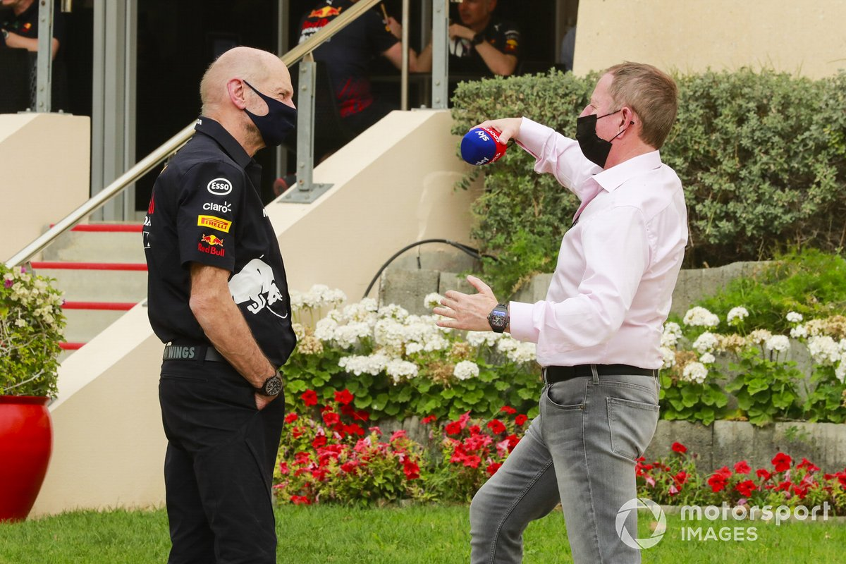 Adrian Newey, Direttore tecnico, Red Bull Racing e Martin Brundle, Sky TV