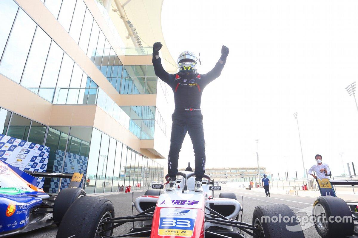 Guanyu Zhou, Abu Dhabi Racing by Prema, wins F3 Asian Championship