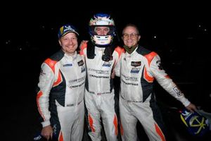 #54 Core Autosport Ligier JS P320, LMP3: Jonathan Bennett, Colin Braun, George Kurtz celebrating their race victory