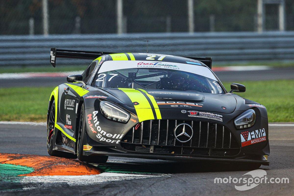 Francesca Linossi, Daniel Zampieri, Alessio Lorandi, AKM Motorsport, Mercedes AMG